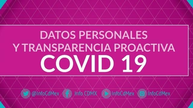 """""""Datos Personales y Transparencia Proactiva COVID19"""""""